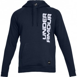 Mikina Under Armour Rival Fleece Script Hoody Navy