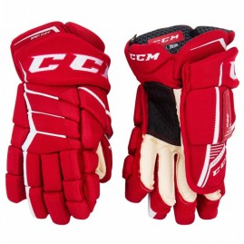 Hokejové Rukavice CCM JetSpeed 390 Red/White Senior