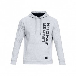 Mikina Under Armour Rival Fleece Script Hoody Grey
