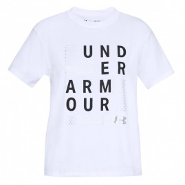 Dámské Tričko Under Armour Graphic Square Logo Girlfriend Crew